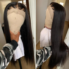 13x6 Lace Front Wigs Human Hair Pre-Plucked Straight Long Wig