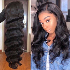 Body Wave Lace Wig 13X6 Lace Front Wig Fake Scalp Wig Virgin Human hair