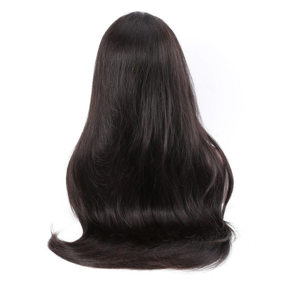 250% Natural Straight 360 Lace Frontal Wigs Pre-plucked Human Hair Wig