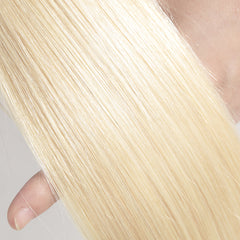 Rosabeauty 8A #613 Blonde Straight Hair Bundles With Frontal Closure