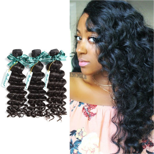 Rosabeauty 8A Hair Weave Brazilian Hair Loose Curly 5 Bundles