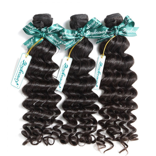 Rosabeauty 8A Hair Weave Brazilian Hair Loose Curly
