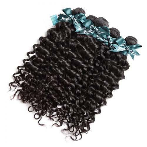 Rosabeauty 8A Hair Weave Brazilian Hair Natural Curly 5 Bundles
