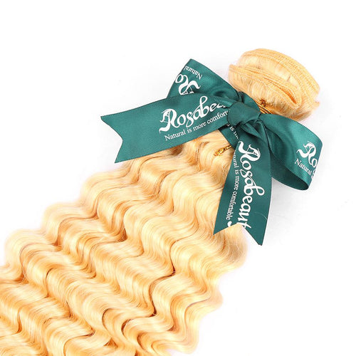 Rosabeauty 8A #613 Blonde Deep Wave Hair Bundles 1-3 Bundles