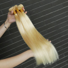 Rosabeauty 8A #613 Blonde Straight Hair Bundles  1-3 Bundles