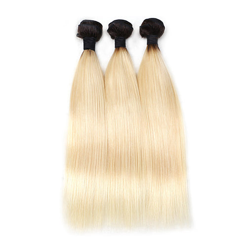 Rosabeauty 8A #T1B/613 Straight Hair Bundles 1:9