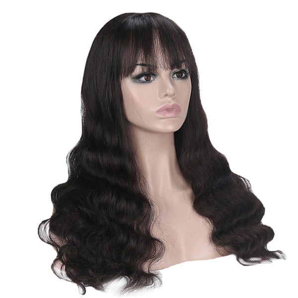 Full Machine Made Wig Body Wave Human Hair