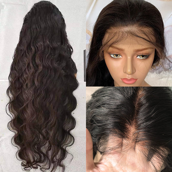 13x6 Lace Front Human Hair Wigs pre plucked Body Wave Long Wig