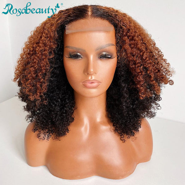 Water Curly Short Bob Hair Wigs with Baby Hair Remy Hair Frontal Wig
