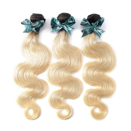 Rosabeauty 8A #T1B/613  Body Wave Hair Bundles 1:9