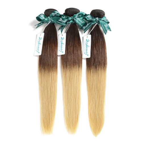 Rosabeauty 8A #T1B/6/27  Straight Hair Bundles