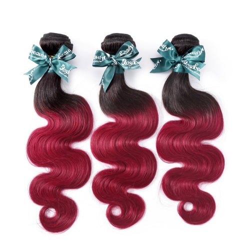 Rosabeauty 8A #T1B/99J Body Wave Hair Bundles