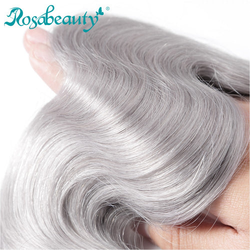 Rosabeauty 8A #T1B/Grey Body Wave Hair Bundles 3:7