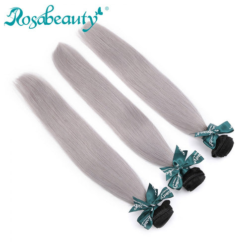 Rosabeauty 8A #T1B/Grey Straight Hair Bundles 1:9
