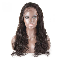 180% Body Wave 360 Lace Frontal Wigs Pre-plucked Human Hair Wig