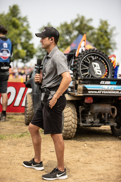 Ryan Dungey speaking on the telecast at 2021 RedBud National