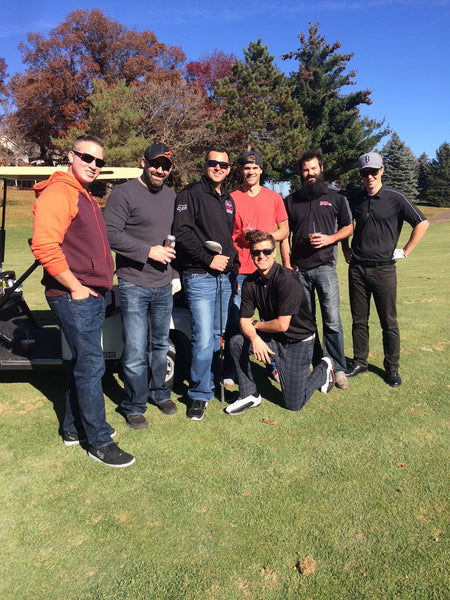 Ryan Dungey enjoying time on the golf course with a group of friends