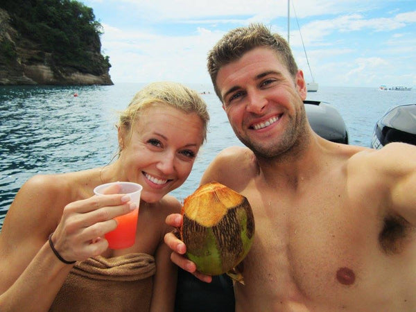 Ryan Dungey and his wife enjoying some down time on a vacation