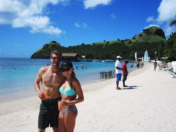 Ryan Dungey and his wife on vacation