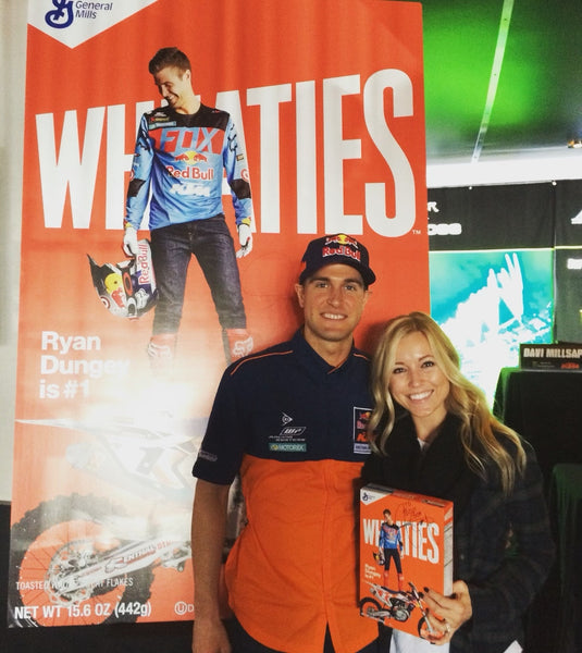 Ryan Dungey and his wife at the Wheaties box reveal