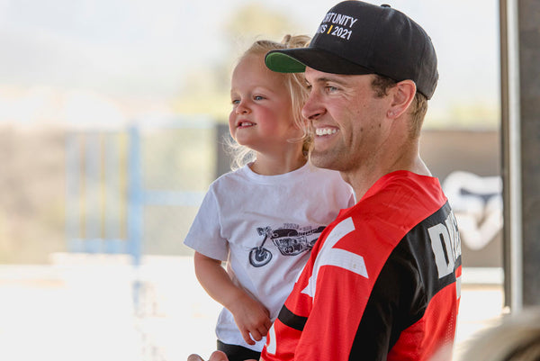 Ryan Dungey and his daughter