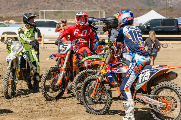 Ryan Dungey chatting with former racing counterparts