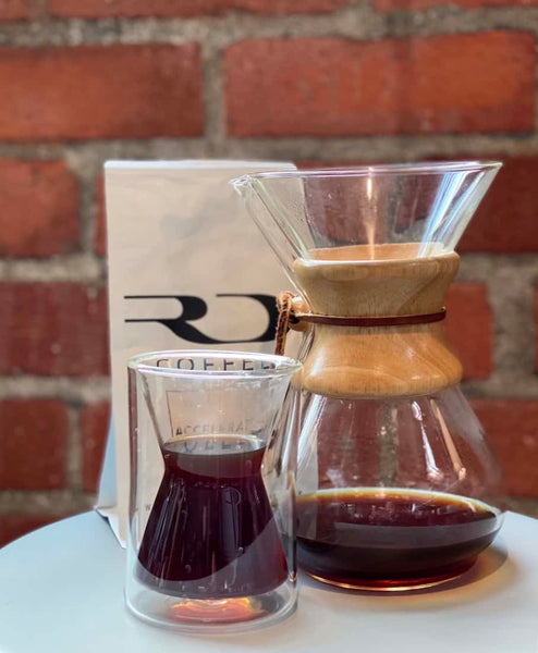 The perfect cup of RD Coffee, brewed with the Chemex