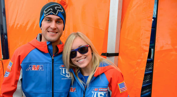 Ryan Dungey and his wife at a race