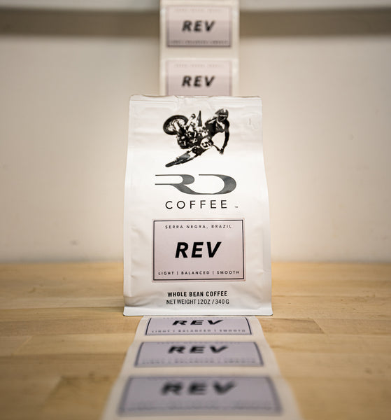 Bag of REV from RD Coffee ready to ship