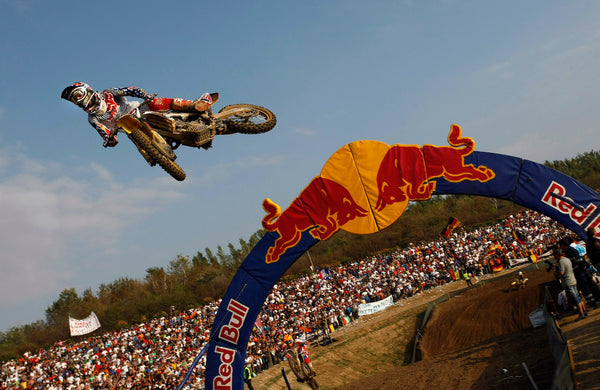 Ryan Dungey at the 2009 MXoN flying over the RedBull jump