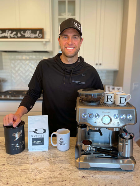 Ryan Dungey with his RD Coffee espresso setup