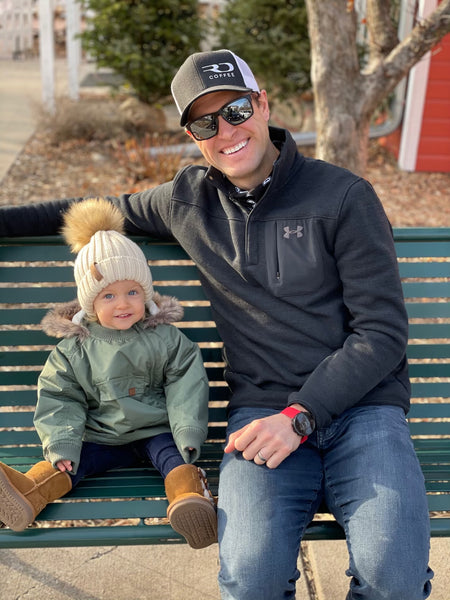 Ryan Dungey with his daughter Harper
