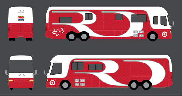 Renderings of what would become Ryan's personal motorhome