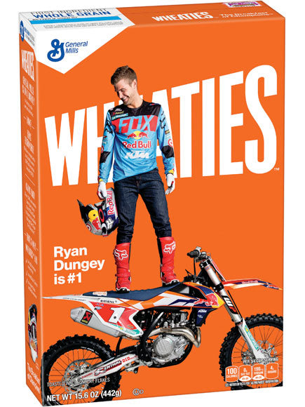 The Wheaties box featuring Ryan Dungey