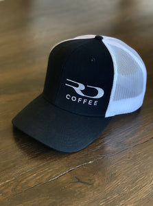 RD COFFEE BLACK & WHITE TRUCKER HAT