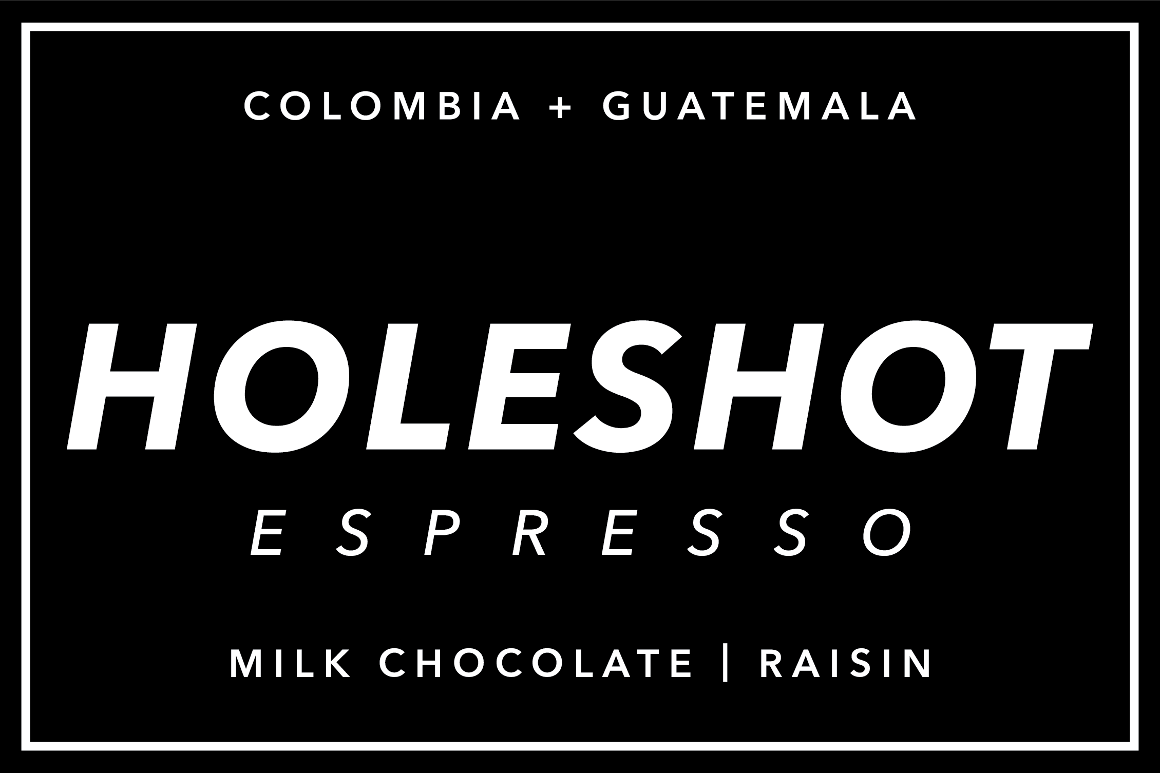 RD Coffee - Holeshot Espresso Blend from Colombia and Guatemala