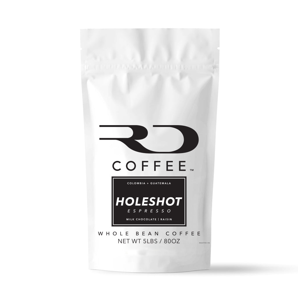 RD Coffee - Holeshot Espresso Blend from Colombia and Guatemala 5lb Bag