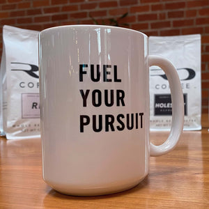 RD Coffee White Ceramic Coffee Mug - Fuel Your Pursuit