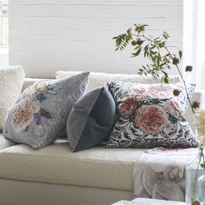 Designers Guild Pahari Platinum Velvet Decorative Pillow - Lavender Fields