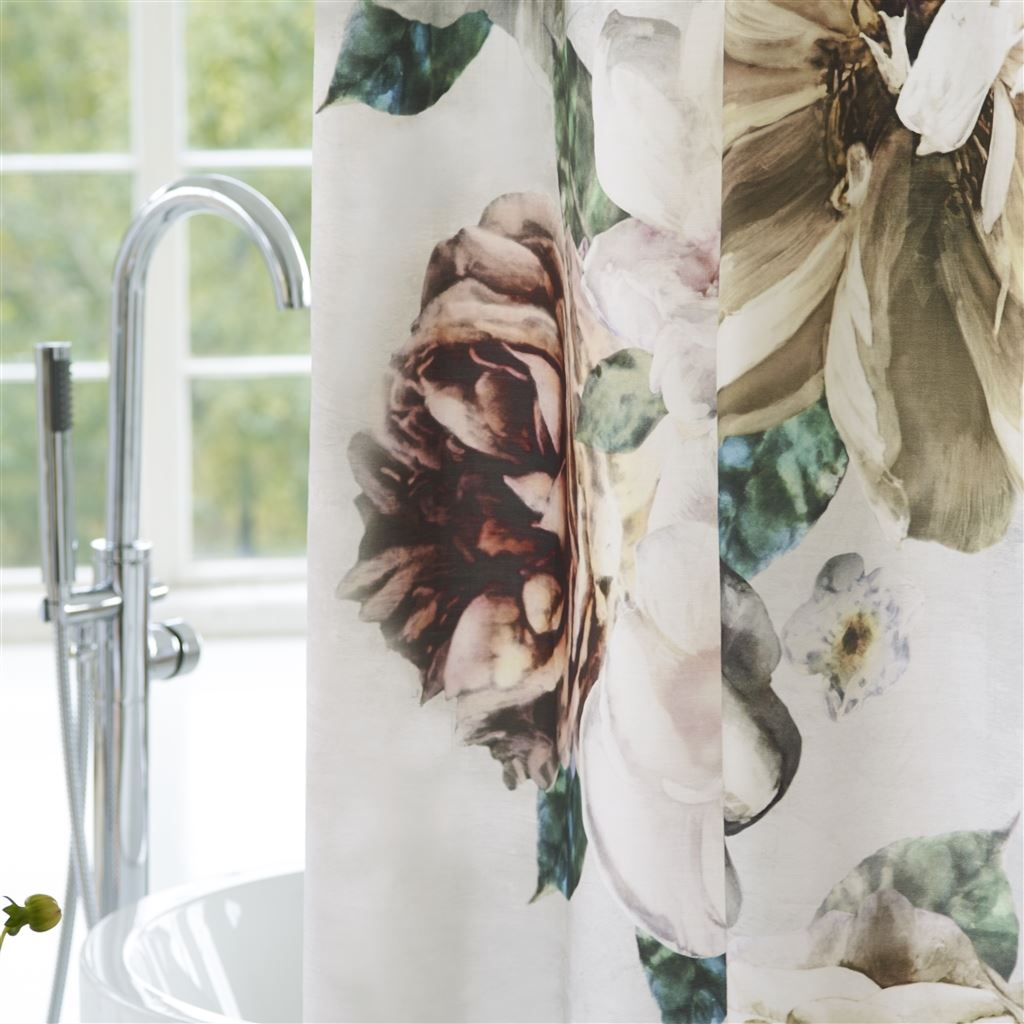 Designers Guild Pahari Cameo Shower Curtain - Lavender Fields