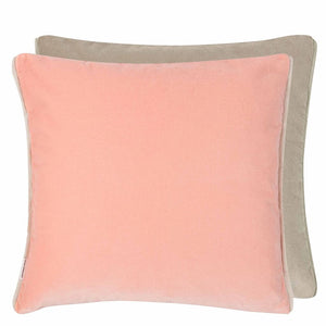 Designers Guild Varese Cameo & Pumice Velvet Decorative Pillow - Lavender Fields