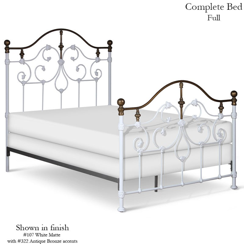 Corsican Standard Bed with Forged Scroll Details - 43730 - Lavender Fields