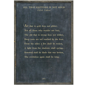 Sugarboo Designs All That Glitters - Poetry Collection Sign