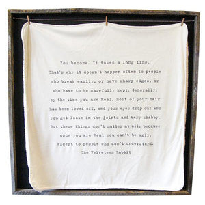 Sugarboo Designs Baby Blanket - The Velveteen Rabbit