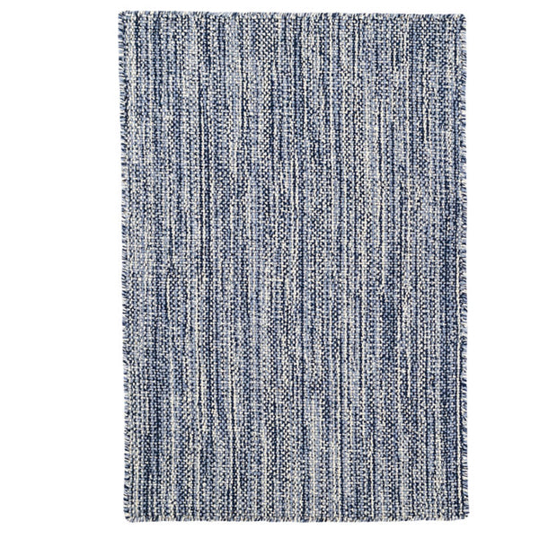 Dash and Albert Bella Navy Woven Wool Rug - Lavender Fields