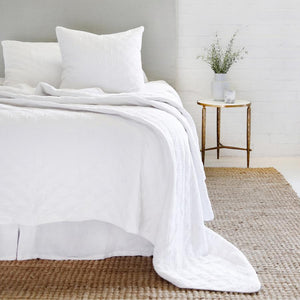 Pom Pom at Home Brussels White Coverlet - Lavender Fields