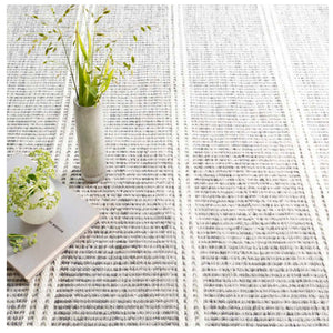 Dash and Albert Malta Grey Woven Wool Rug - Lavender Fields