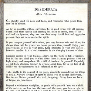 Sugarboo Designs Desiderata - Poetry Collection Sign - Lavender Fields
