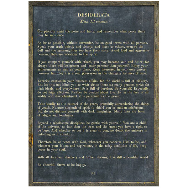 Sugarboo Designs Desiderata - Poetry Collection Sign