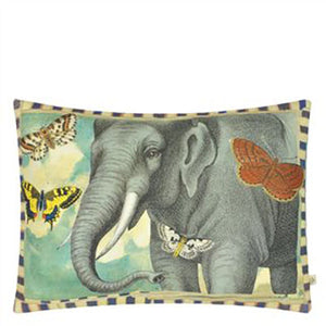 Designers Guild Elephant's Trunk Sky Decorative Pillow - Lavender Fields